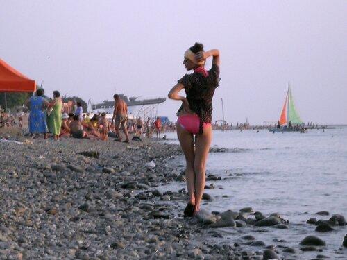 Лето, вечерний пляж