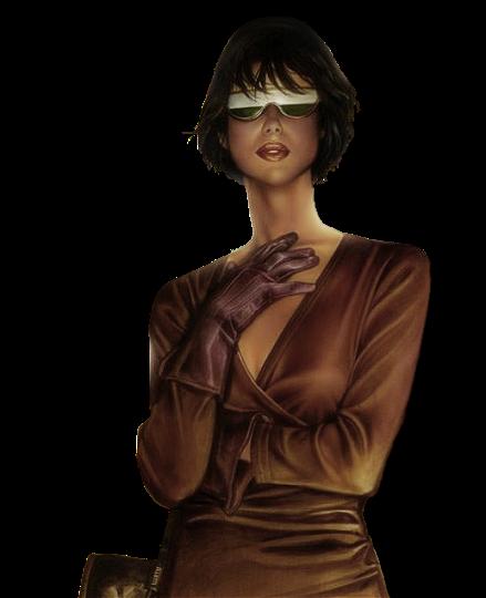 девушка в очках, стильная