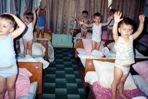 Гимнастика на кроватях после сна
