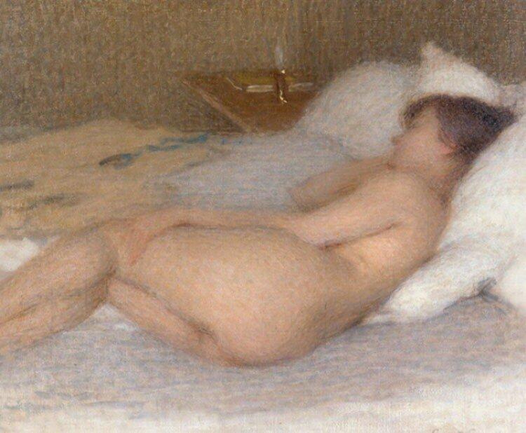 Ernest Joseph Laurent ,1915,nude