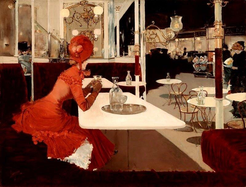 The Cafe (1882). Fernand Lungren
