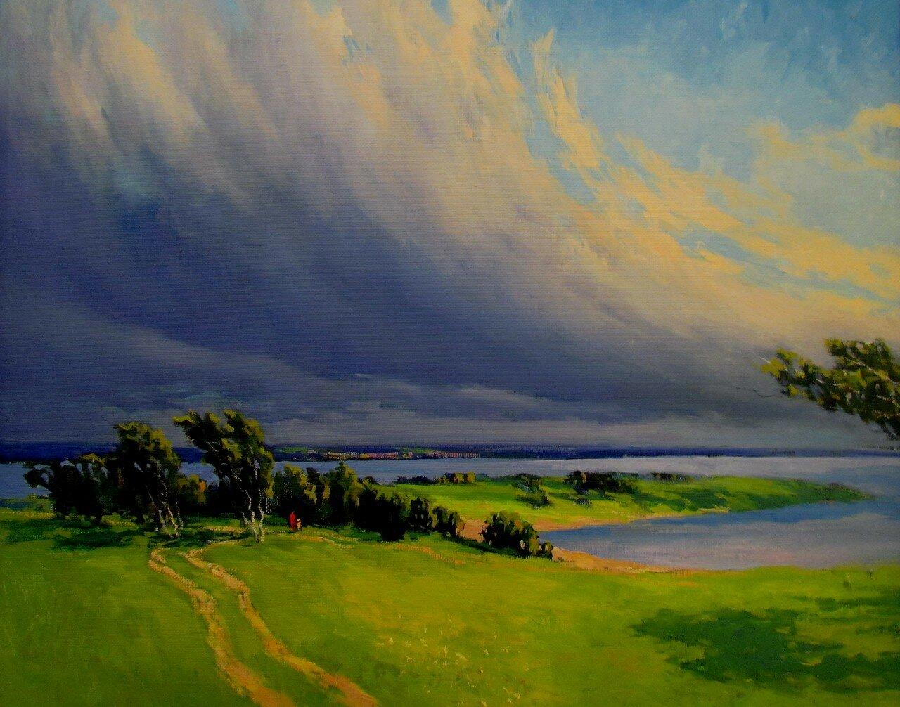г.козлов.внезапный порыв июльского ветра пригнул тонкие березы и погнал облака за волгу.jpg