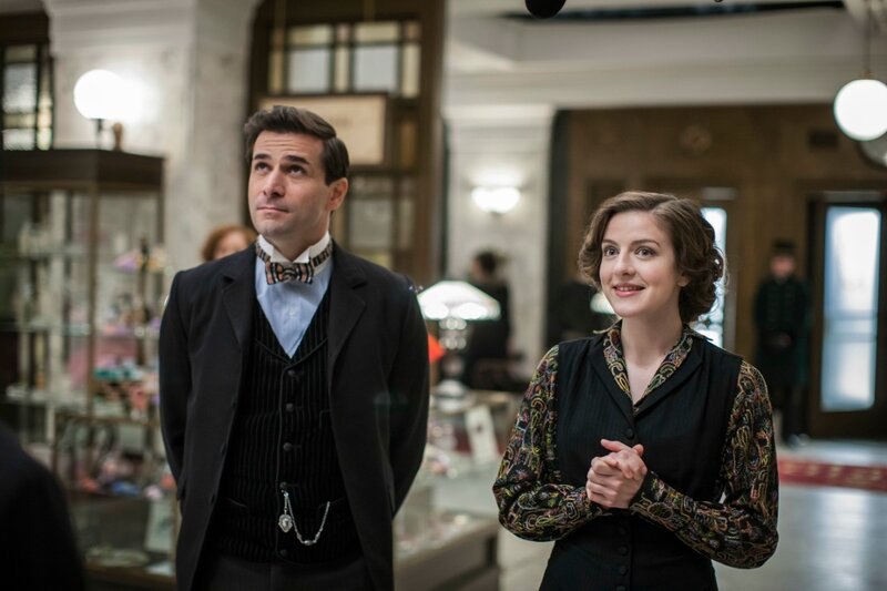 Part TwoSunday, April 6, 2014 at 9pm ET on PBSMiss Mardle gets a lucky break. LeClair resurfaces. Loxley seeks Harry's help. All awaitChurchill's appearance at the store.Shown from left to right: Grégory Fitoussi as Henri LeClair and Aisling Lof