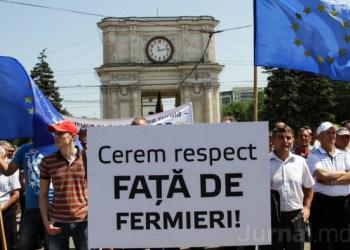 Фермеры вышли на протест на центральной площади