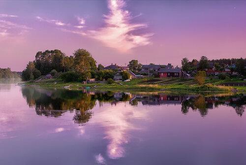 В лучах пурпурного заката