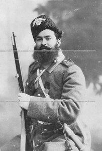 Портрет старшего урядчика Лейб-гвардии казачего полка Козарезова.