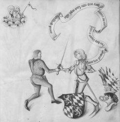 Книга Fechtbuch, gewidmet dem Pfalzgrafen Ludwig