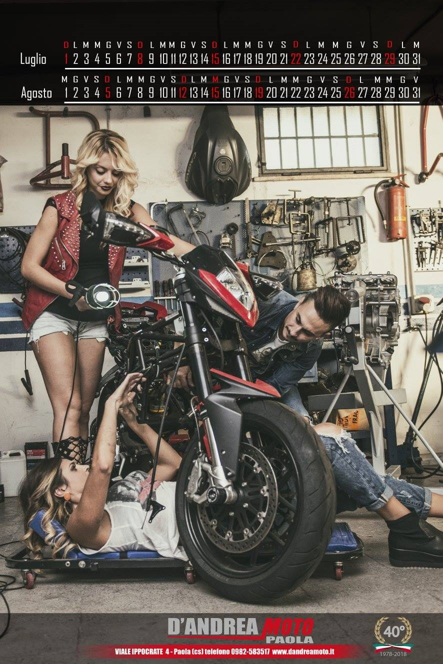 Мотокалендарь D'Andrea Moto 2018