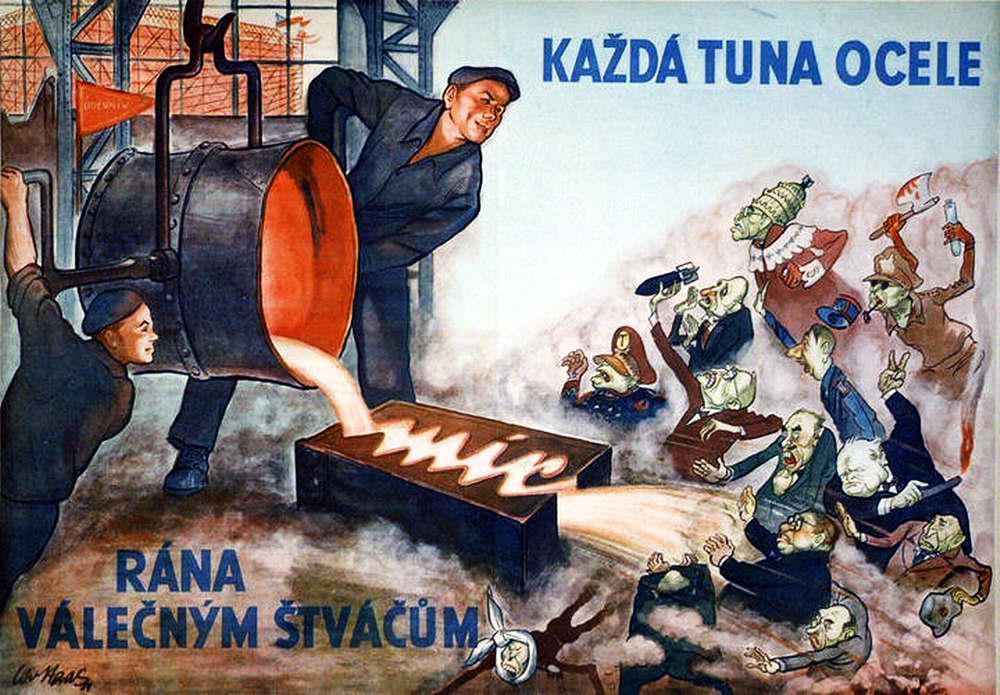 Каждая тонна выплавленной стали наносит урон НАТОвским поджигателям войны!