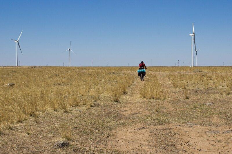 ветровые генераторы во внутренней монголии, китай