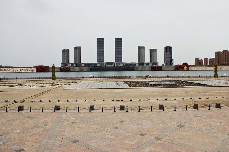 центральная часть набережной города Ордос, Внутренняя Монголия, Китай