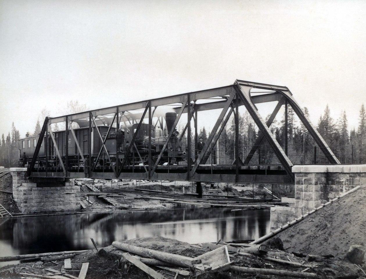 241-я верста от Вологды, мост через реку Вандыш, 1896-1897