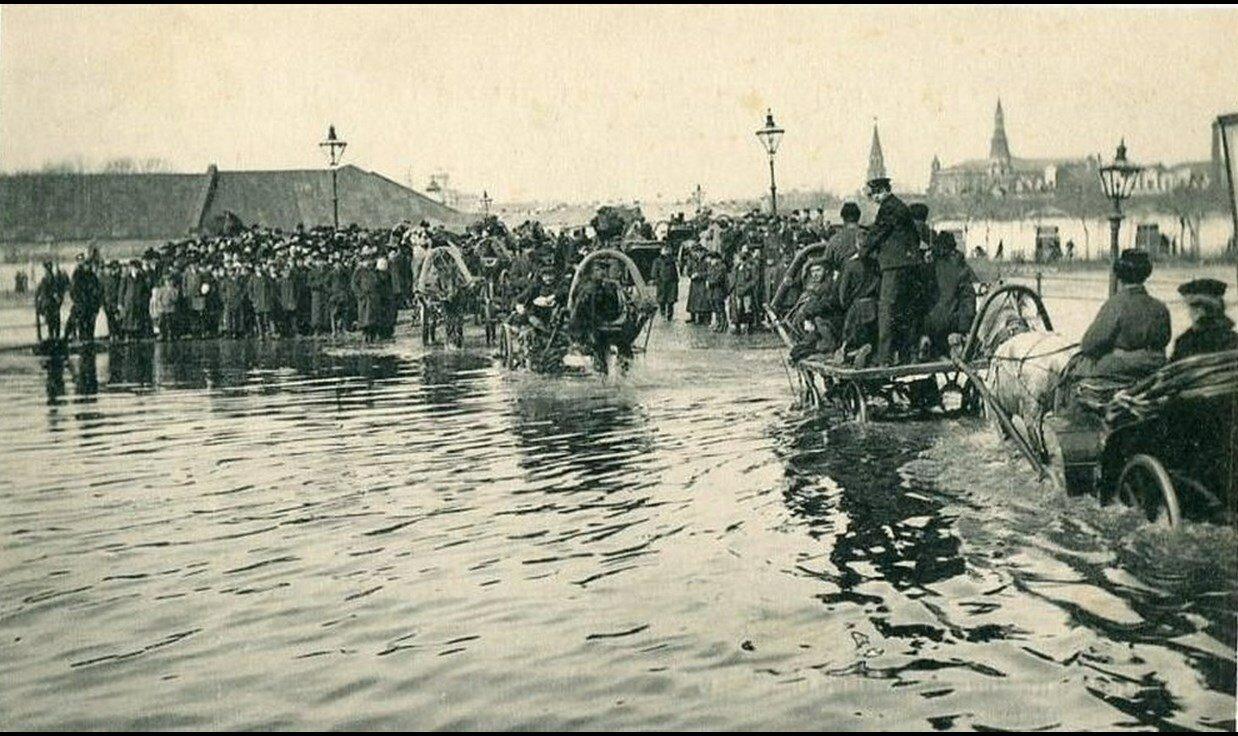 Наводнение 1908 года.  Болотная площадь