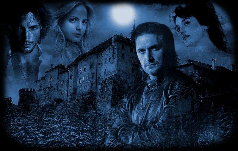Над замком Данвеган взошла полная луна