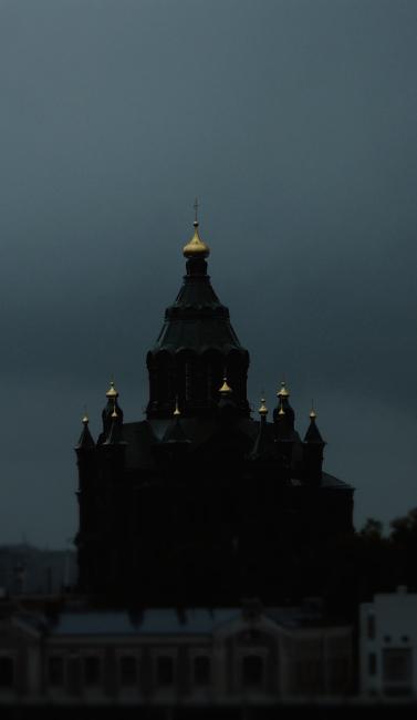 православный собор с золотыми куполами