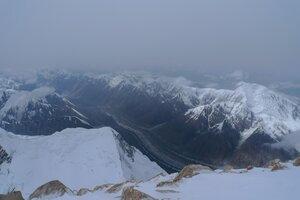 вид с вершины Хан-Тенгри на север