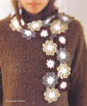 Нежный шарф с цветами.