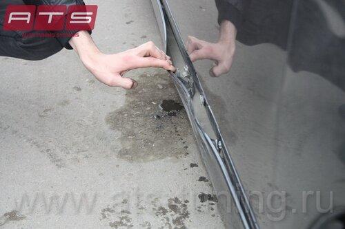 Как вытянуть порог на автомобиле  в домашних условиях