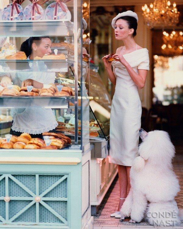 Audrey Marnay in a Paris Deli