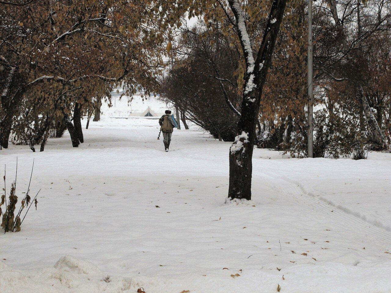 Иркутск. Выпал снег
