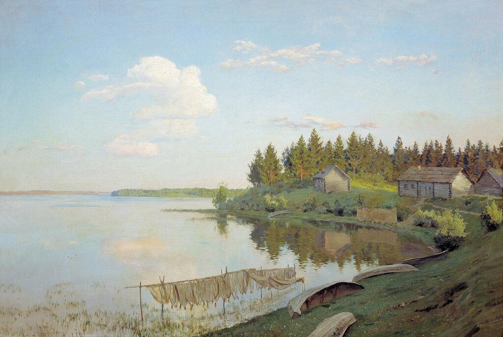 На озере. 1893, холст, масло, 109х163 см.jpg