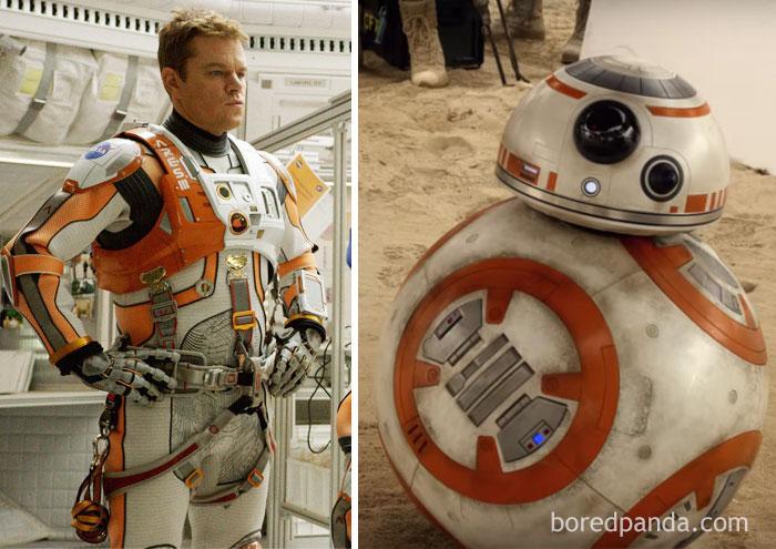 Мэтт Деймон в « Марсианине » или дроид BB-8 из «Звездных войн»?