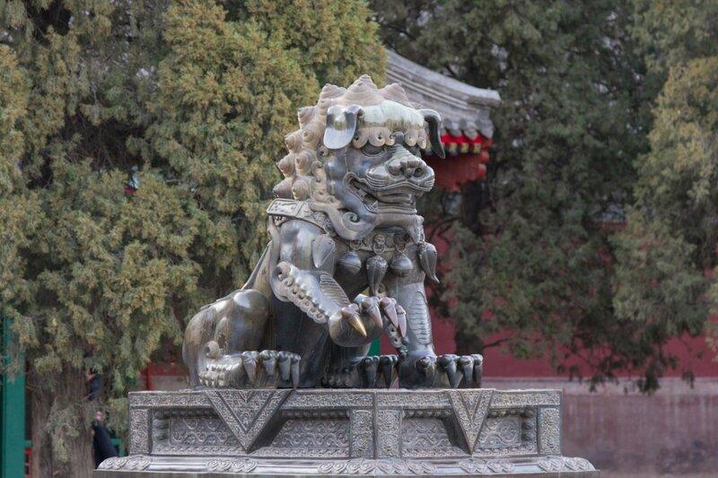 Лев, парк Сяншань, Пекин