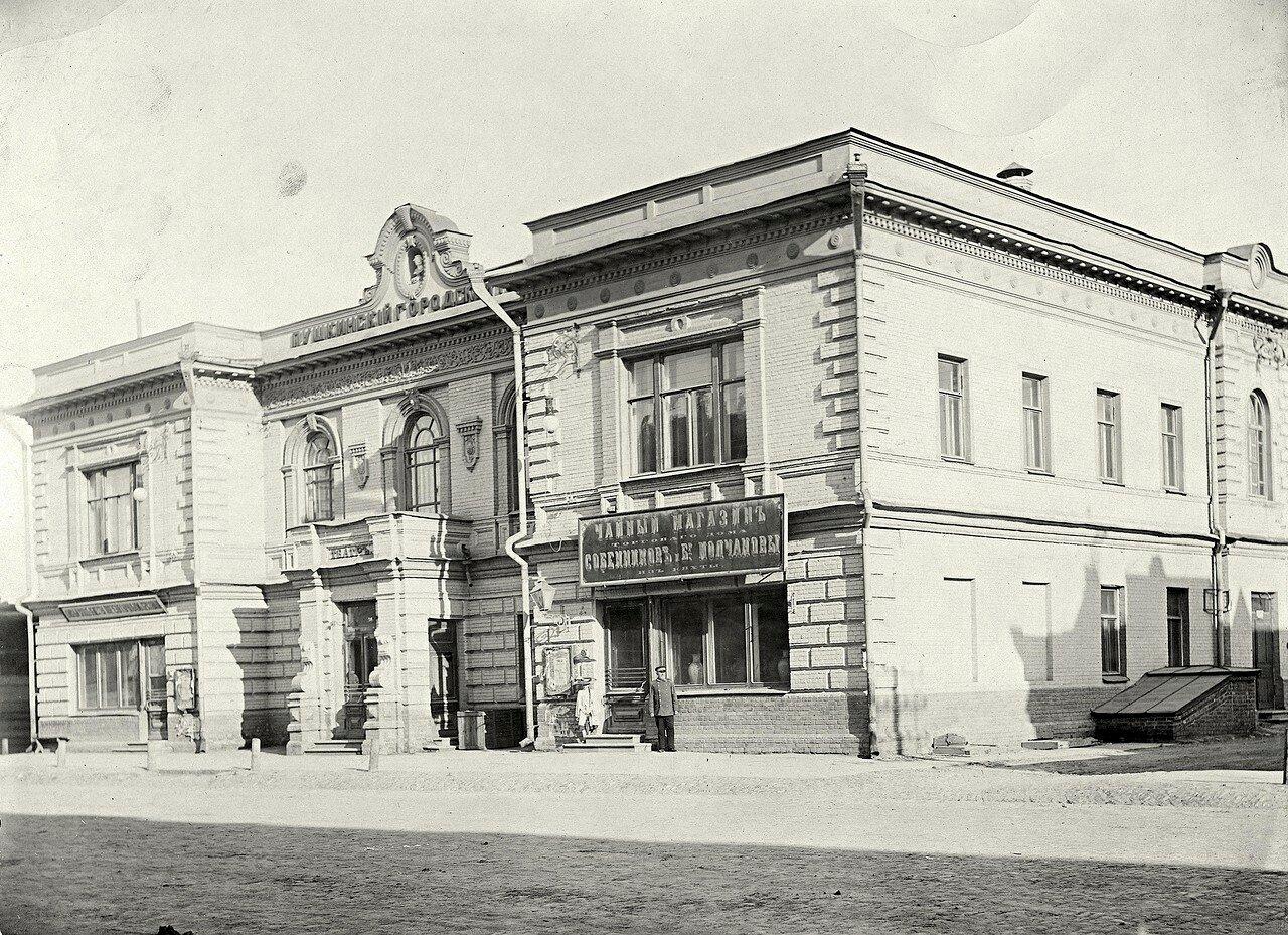 Часть перспективы Воскресенской улицы со зданием Пушкинского городского театра