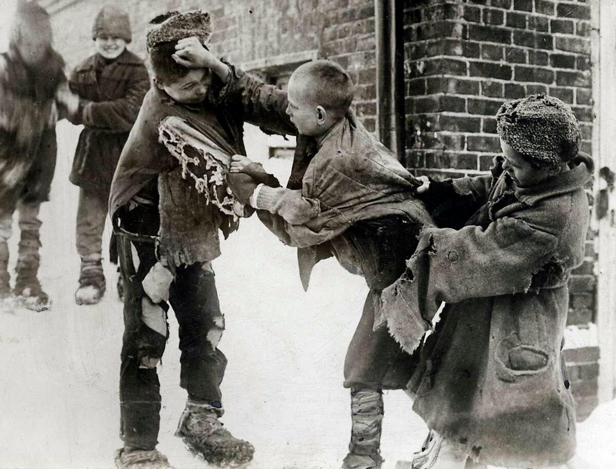 1924. Драка беспризорников