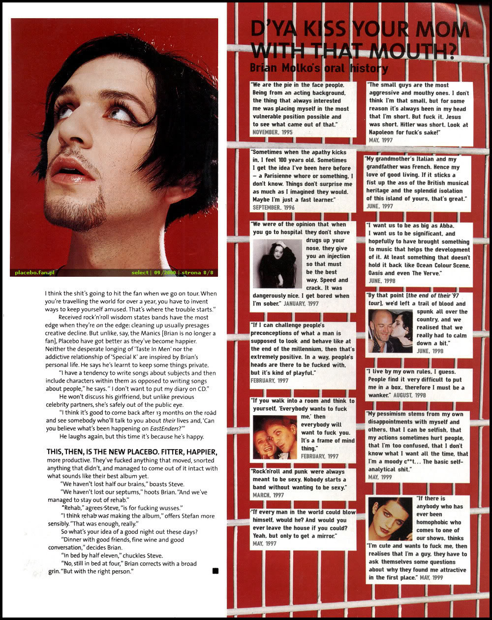 Brian Molko Girlfriend