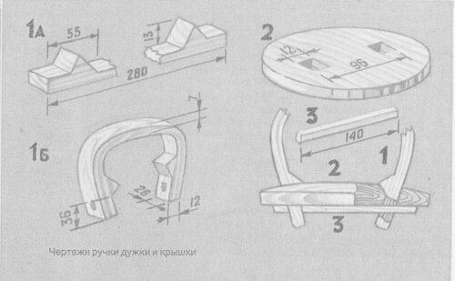 Изготовление плотной крышки с замком для туеса