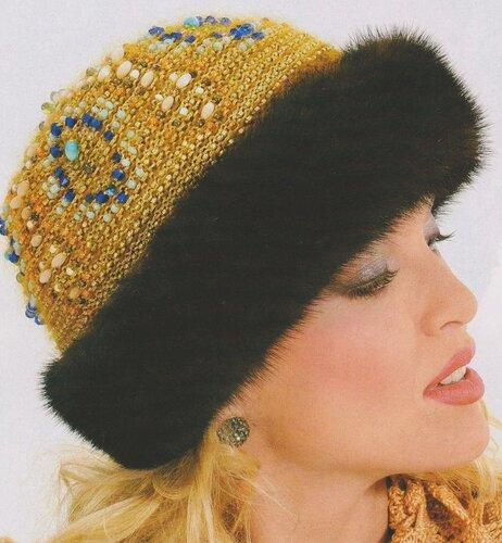 Связать шапку из меха своими руками фото 9