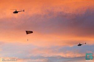 Флаг вечеринки в небе