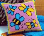 Бабочки - схема для подушки, вышивание крестом.