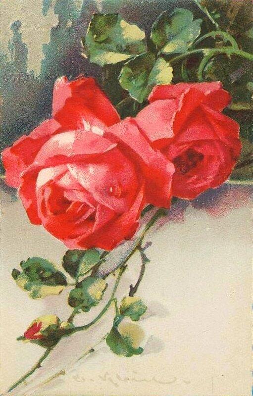 К. Кляйн. 38.  Розы.