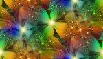 цветочный радужный фрактал