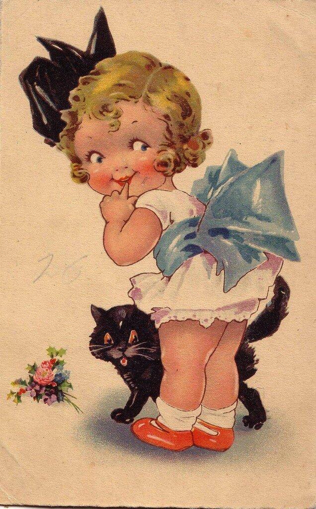 Старинные открытки с детками 53