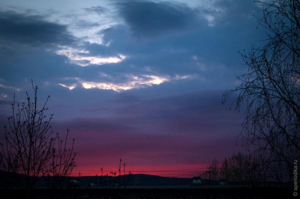 Багровый закат