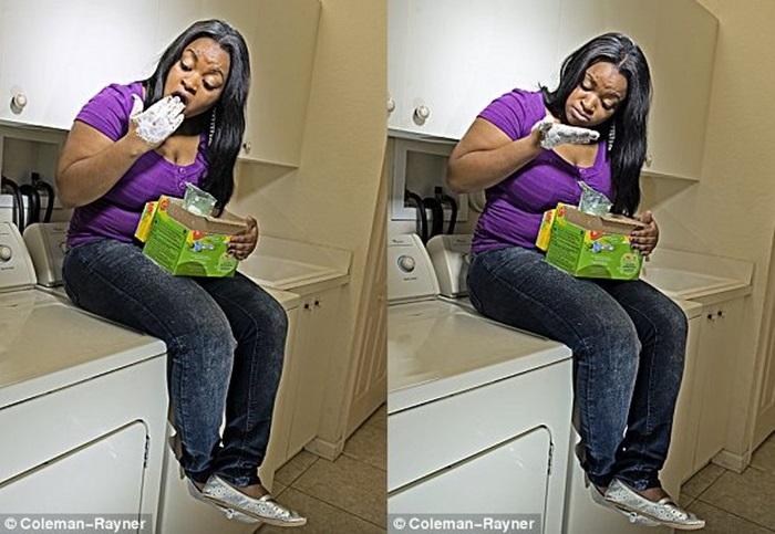 Англичанки жрут мыло, губки и стиральный порошок вместо нормальной еды