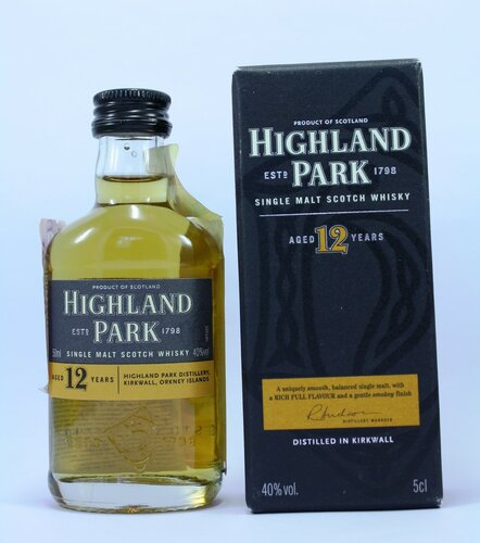 Виски Highland Park aged 12 years Single malt scotch whisky