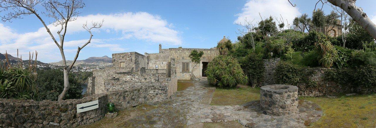 Ischia, the Aragonese castle. House of the Sun.
