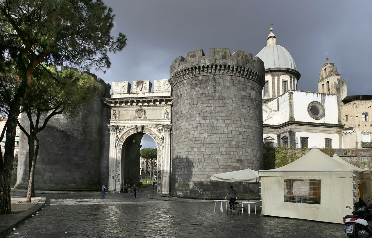 Naples. Capuana Gate (Porta Capuana)