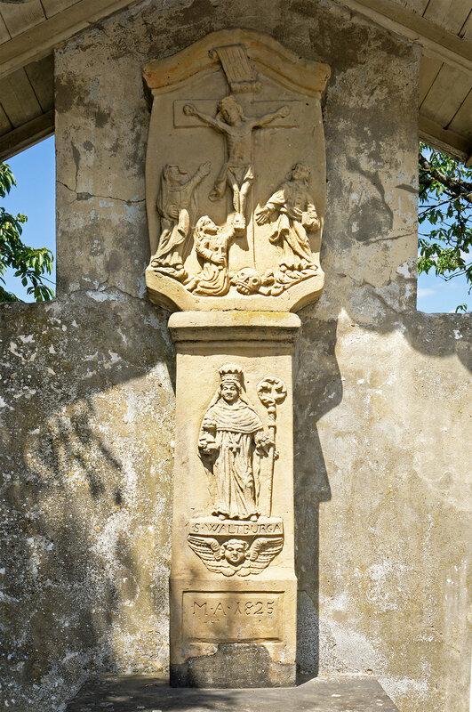 Wayside cross in Christnach, Fielserstrooss