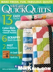 Журнал McCall's Quick Quilts - August / September 2015