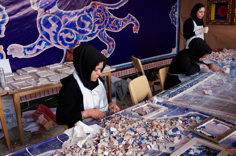 Исфахан. Мозаика.