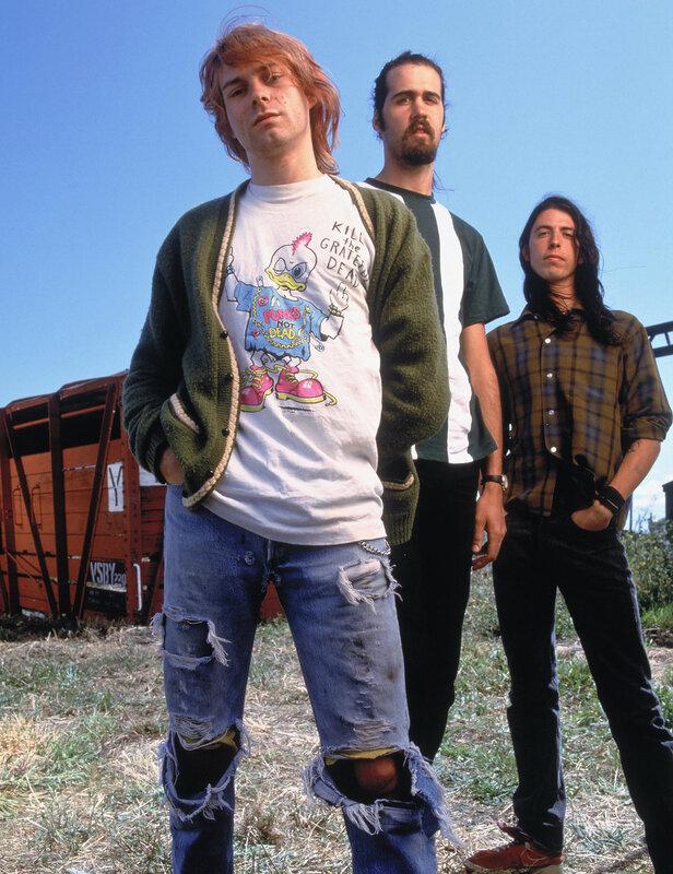 Kurt Cobain Krist Novoselic Dave Grohl Nirvana