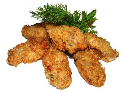 Куриное филе в сухарях панко