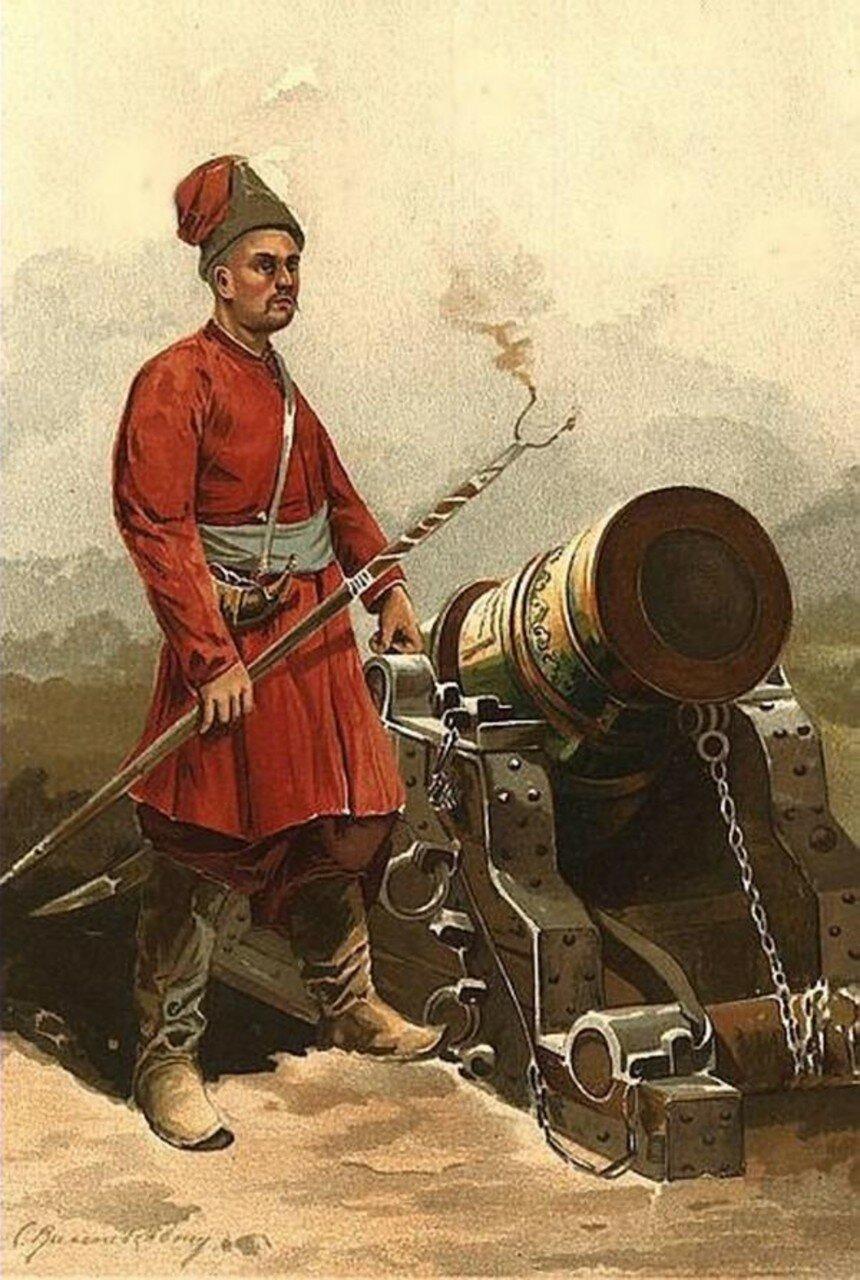 Гармаш (казак-артиллерист) времен гетмана Мазепы