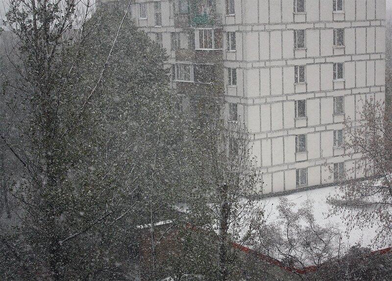 Первый снегопад, 13 октября 2010