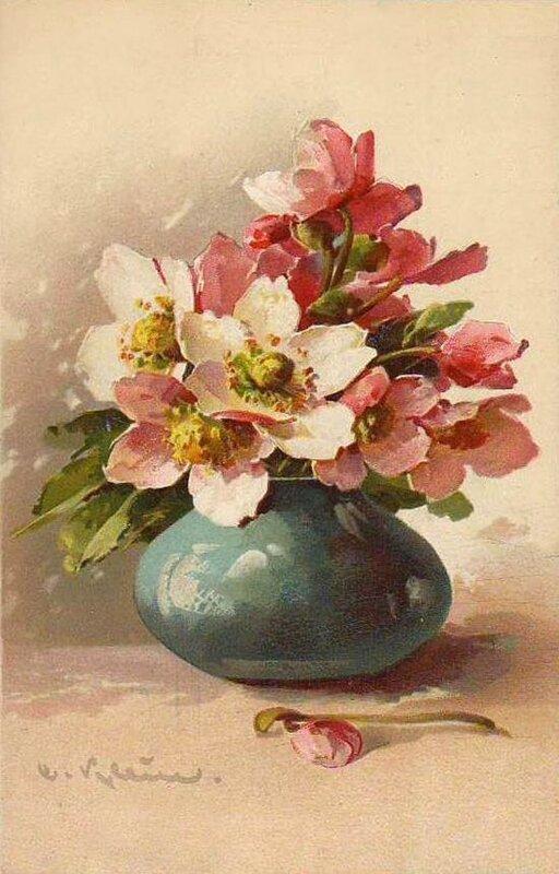 К. Кляйн. 157. Цветы в вазочке. Анемоны